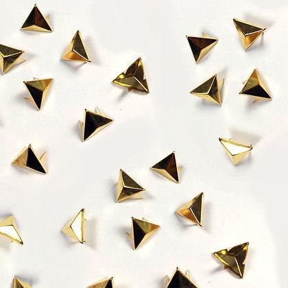 Clous triangle doré