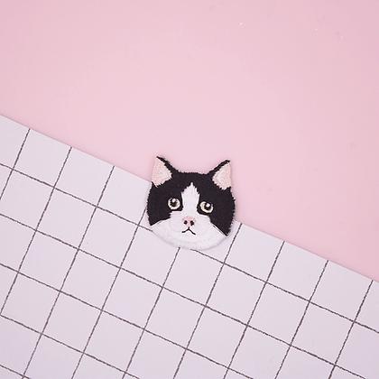 Patch thermocollant tete de chat Noir et Blanc