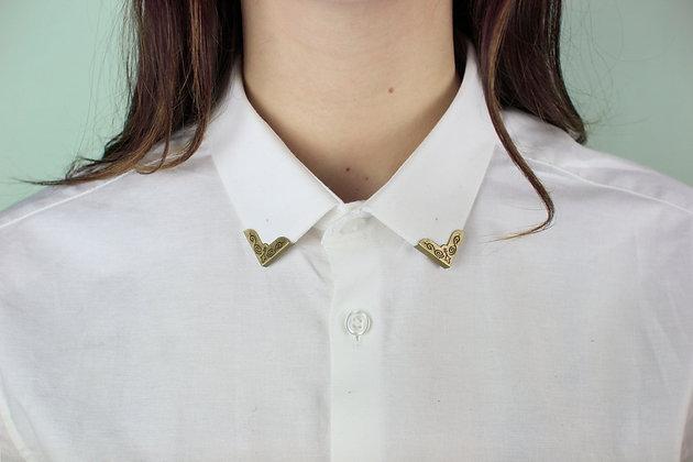 Clip de col vintage bronze