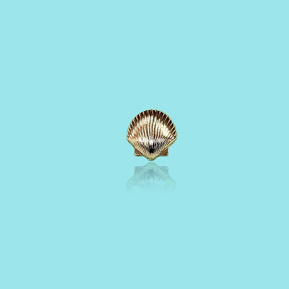 Pin's doré coquillage