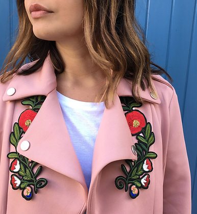 Patch thermocollant couronne de fleurs