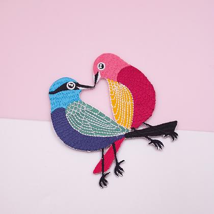 Patch thermocollant oiseaux colorés amoureux
