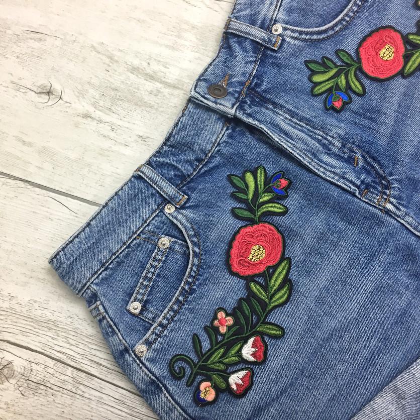 ► TUTO ◄ Mon short en jeans fleuris !
