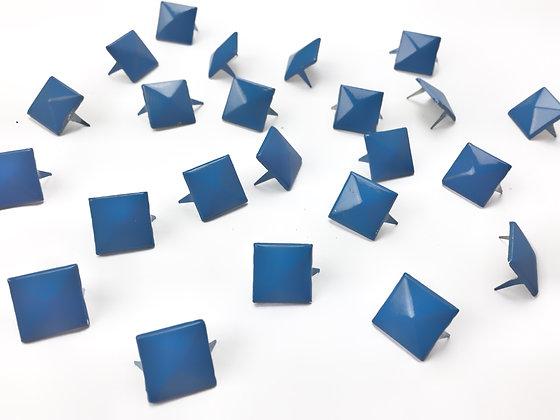 Clous pyramide bleu / lot de 10