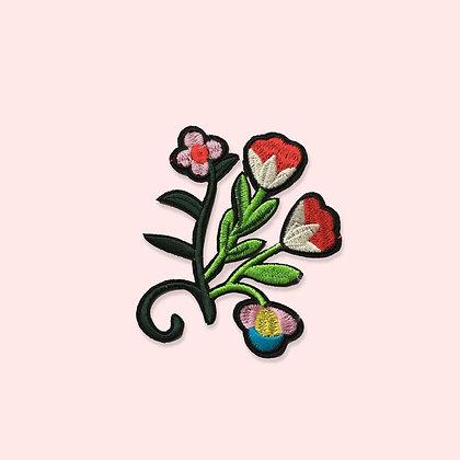 Patch thermocollant fleurs abstraites