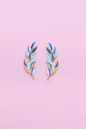 Duo épis thermocollants pastels multicolores