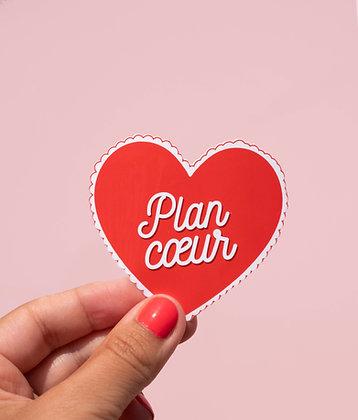 Sticker Plan coeur