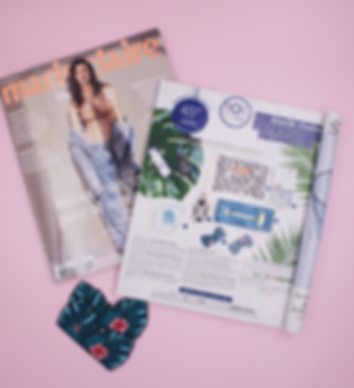 Marie claire Magazine parution Malicieuse DIY broderies thermocollantes tropicale