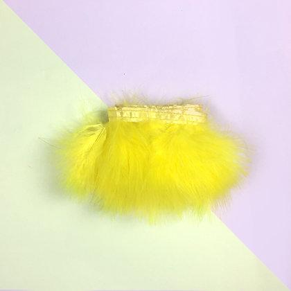 Ruban de plumes jaunes fluffy