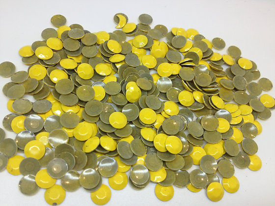 Strass jaune thermocollant / lot de 30