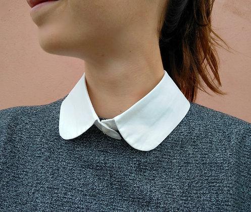 Col de chemise claudine blanc amovible