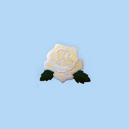 Patch thermocollant rose blanche