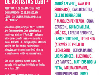 Trabalhos de artistas LGBT como Laerte e Leonilson serão leiloados