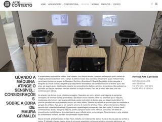 Maura Grimaldi na plataforma Arte ConTexto