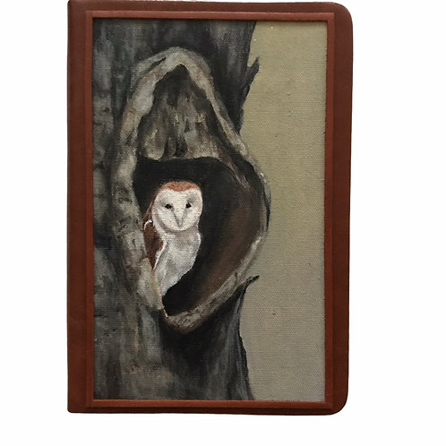 Hand Painted Owl Journal #2