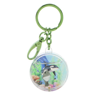 Round shaped dophlin keychain