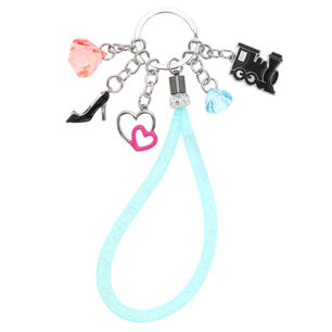 Charm keyring with wrist strap