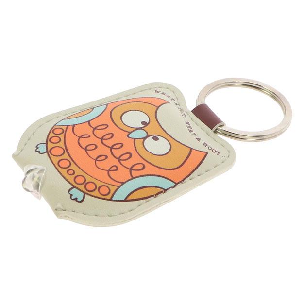 Flashlight leather keychain