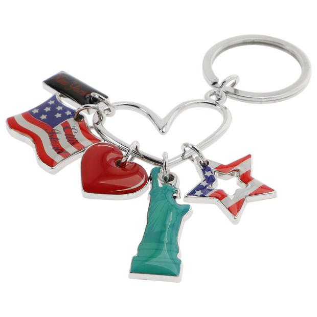 U.S icons Charm Keyring