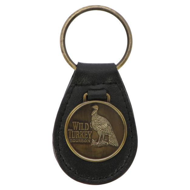 Metal Leather Keychain