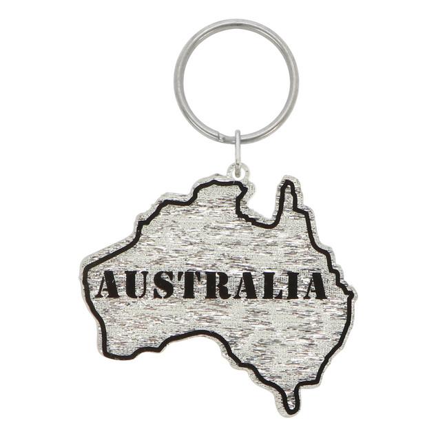 Die-cut plastic keychain