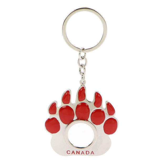 Paw-shaped Keychain with Magnifier