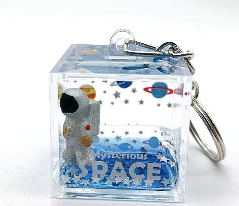 Plastic square keychain