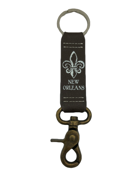 Leather keychain with Belt Loop Clip