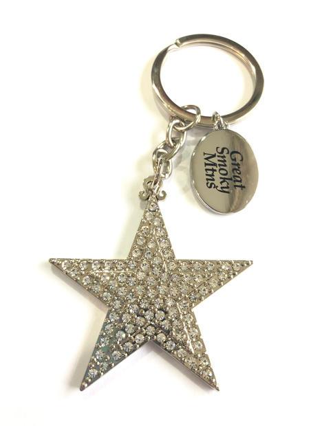 Star Rhinestone Keychain