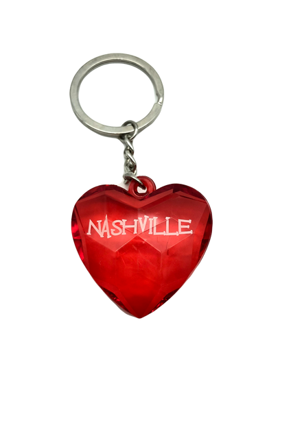 Heart-shaped red keychain