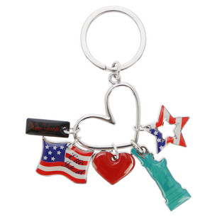 MR_S008 America charms keychain