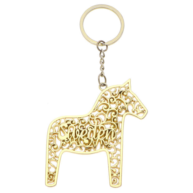 Gold Horse-shaped Keychain
