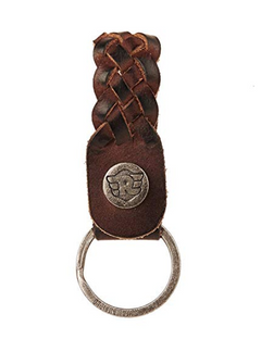 Leather Weave keychain