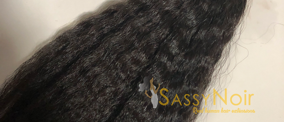 Afro blown i-tip fusion extensions