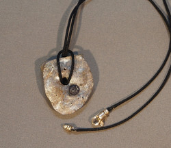 Recovery Collection neofossil pendant with iolite
