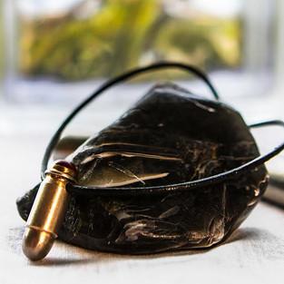 bullet carnelian necklace