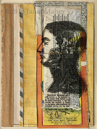 ©2016 Janet Maher, various papers, collaged and layered w/transparency, acrylic