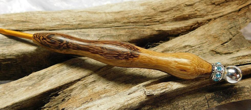 Häkelnadel Zebrano mit Kugelabschluß, Ns 3