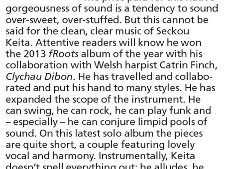 '22 Strings' reviewed in fRoots Magazine May '15