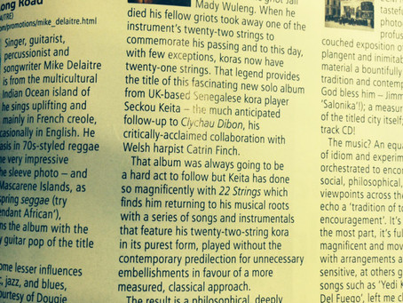 4* for 22 Strings from R2 (Rock n Reel) Magazine's Dave Haslam