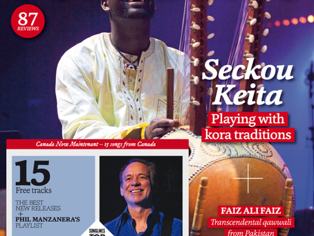 Seckou makes the front cover of Songlines Magazine October 2015!