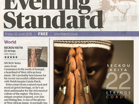 5* from Simon Broughton in London Evening Standard