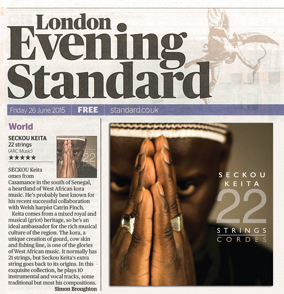 5* for 22 Strings in London Evening Standard