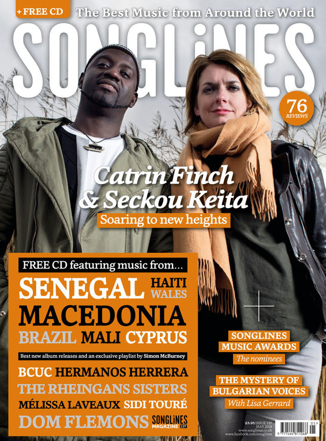 Catrin Finch & Seckou Keita grace the cover of the May edition of Songlines!