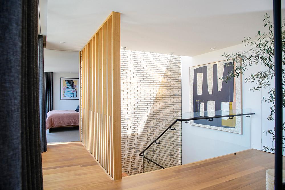 Petersen D72 bricks, feature wall, Torquay House