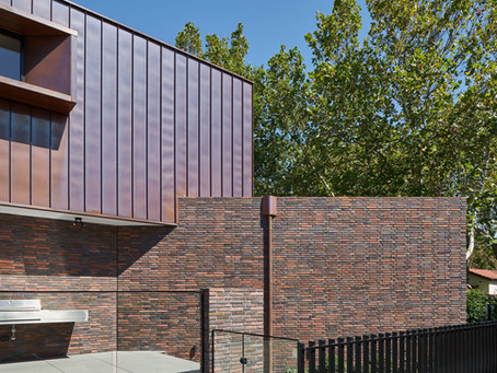 Petersen Flensborg bricks and copper superbly combine, producing a timeless palette in Elwood