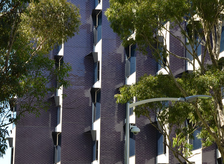 A hard wearing and resilient façade adorns Monash University's new student accommodation building