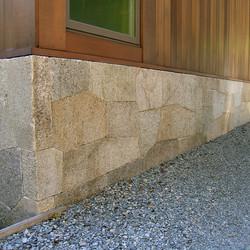 Antique Salmon Granite wall