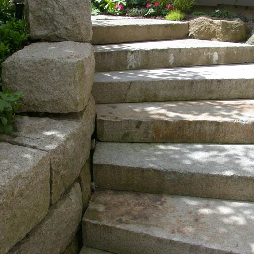 Antique Granite stairblocks