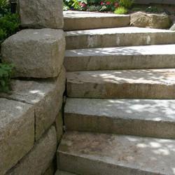 Antique Granite stairblocks